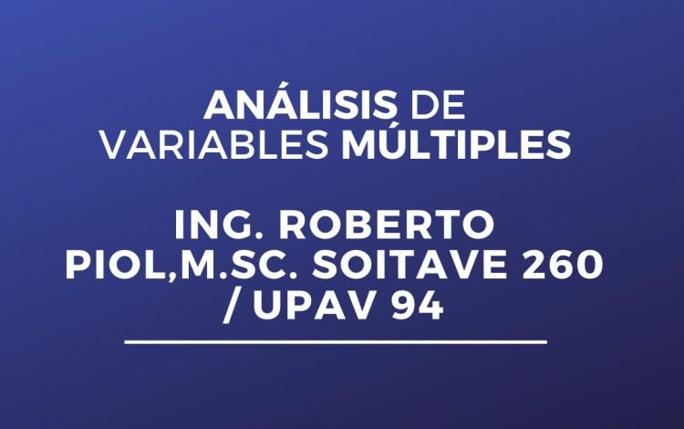 ANÁLISIS DE VARIABLES MÚLTIPLES