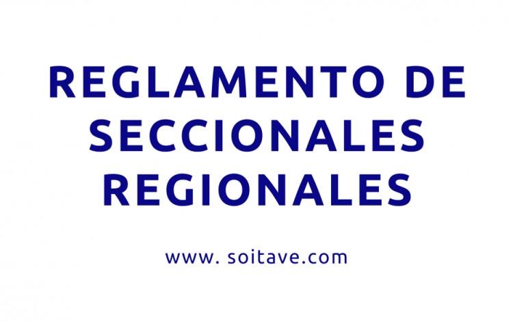 Reglamento de Seccionales Regionales - SOITAVE